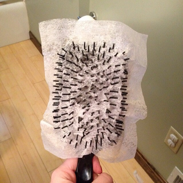 Rub a dryer sheet directly on your hair to instantly tame frizz