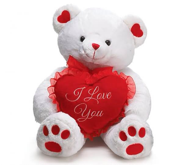 "#2 gift teddy bear ""l love you"""