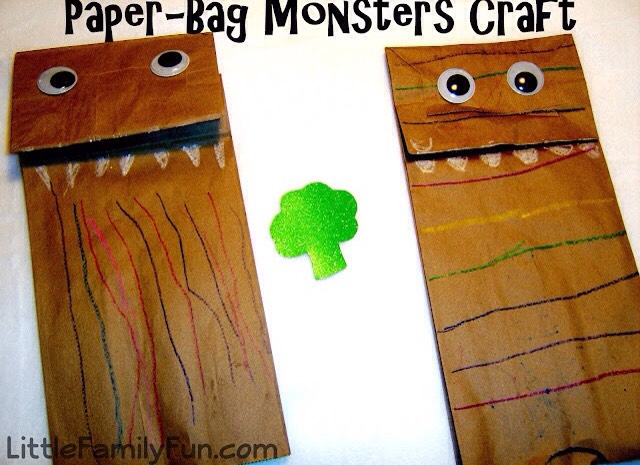 Have your kid draw on a paper bag and play hand puppets.