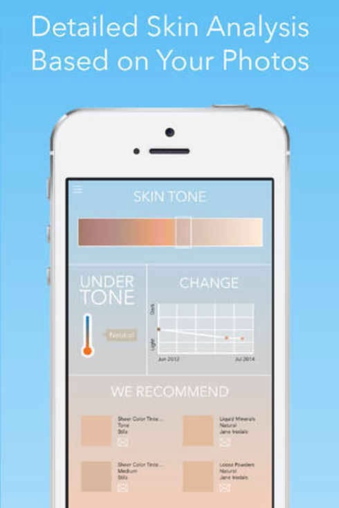 7. Beautiful Me uses your Facebook photos to give you personalized information about your skin.