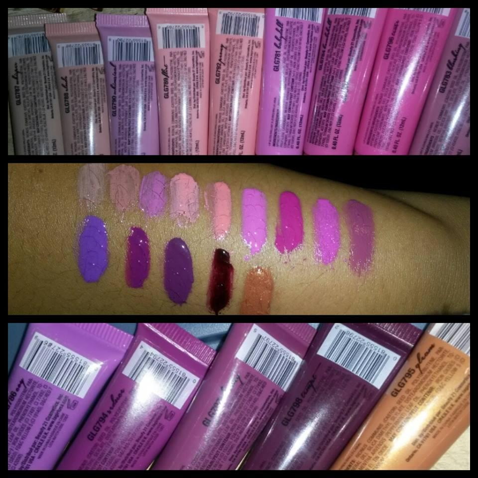 LA girl glazed lip paints