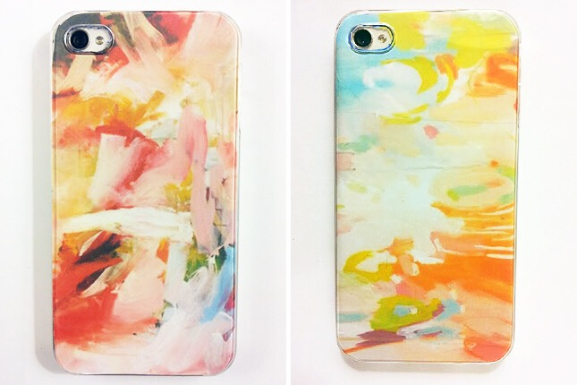 19. Impressionist Case: For folks who love a bit of romantic impressionism, these cases have a watercolor style we love. Create your own prints or use paper or fabric you like.