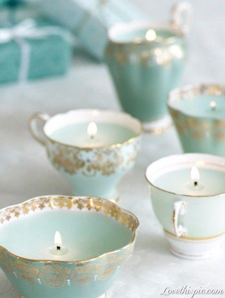 Beautiful Teacup candles, you see how it's done on page one!