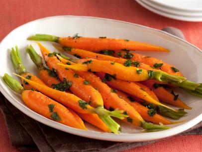 Honey glazed carrots http://www.foodnetwork.com/recipes/sunny-anderson/honey-glazed-carrots-recipe.html