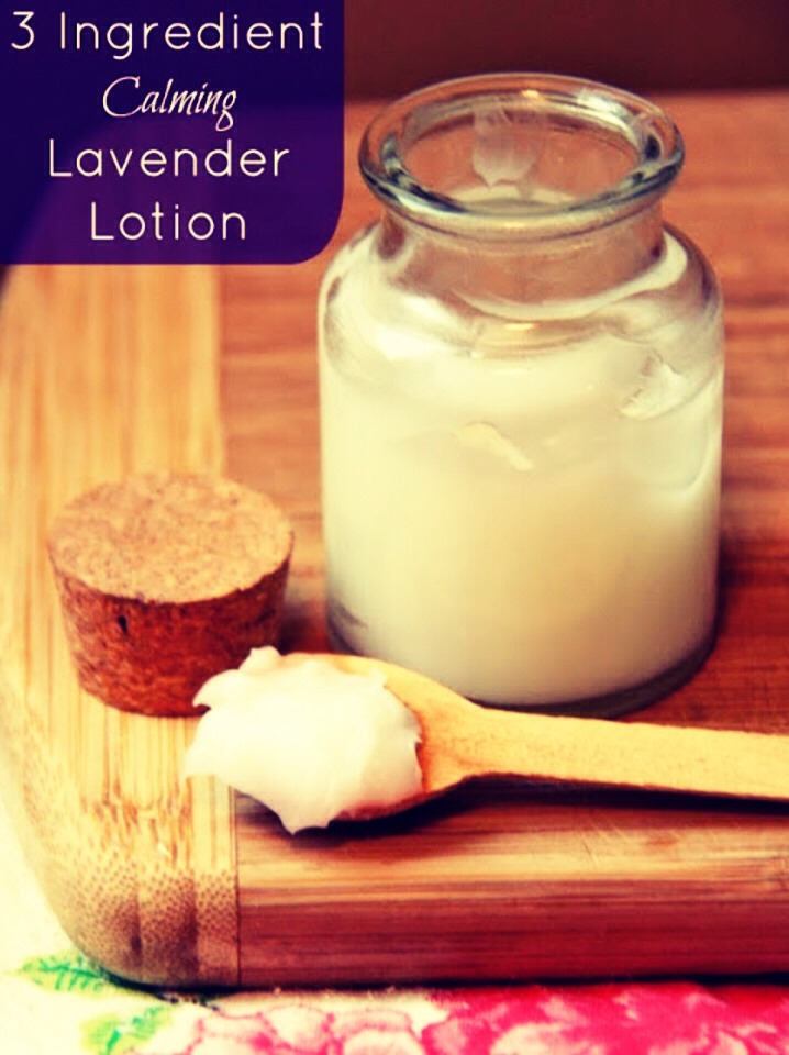 Ingredients:  1/3 cup coconut oil  2 tbsp beeswax  5 drops lavender essential oil