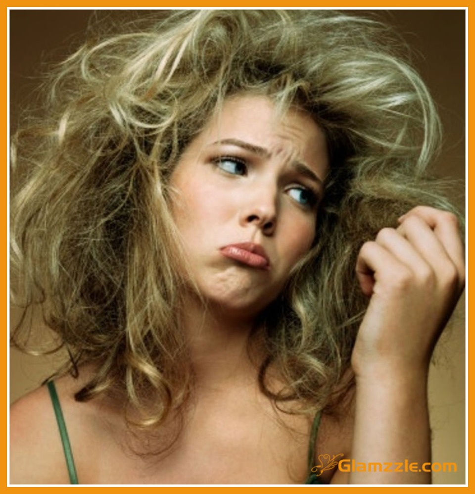 by putting your hair up in a tight bun (messy bun) you damage the shaft of the hair. the picture above is what MY hair looks like when I take down my bun-- it looks unhealthy and well, nasty...