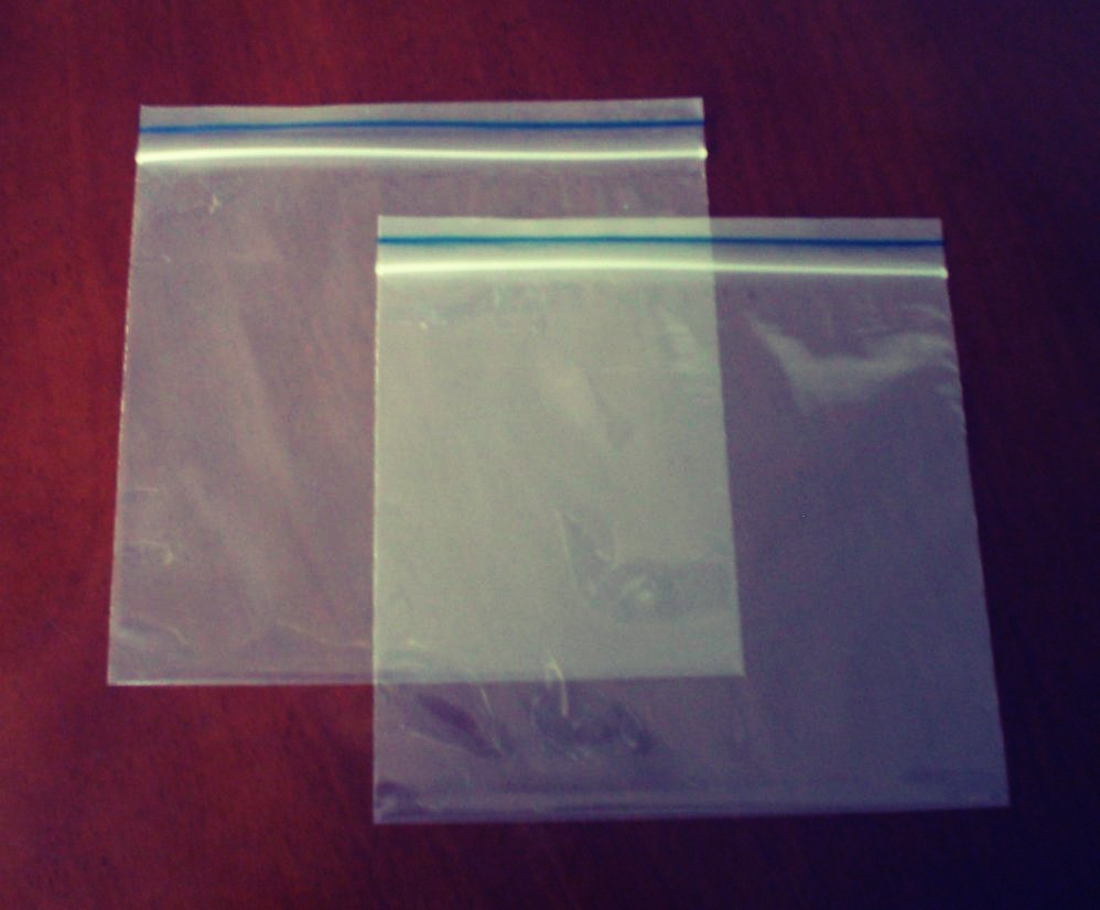 And these ziplock bags (any size will do)
