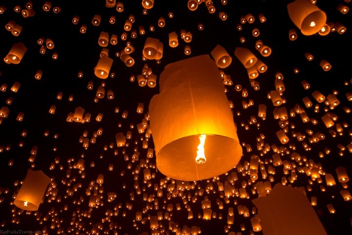 Let a lantern off to loved ones!