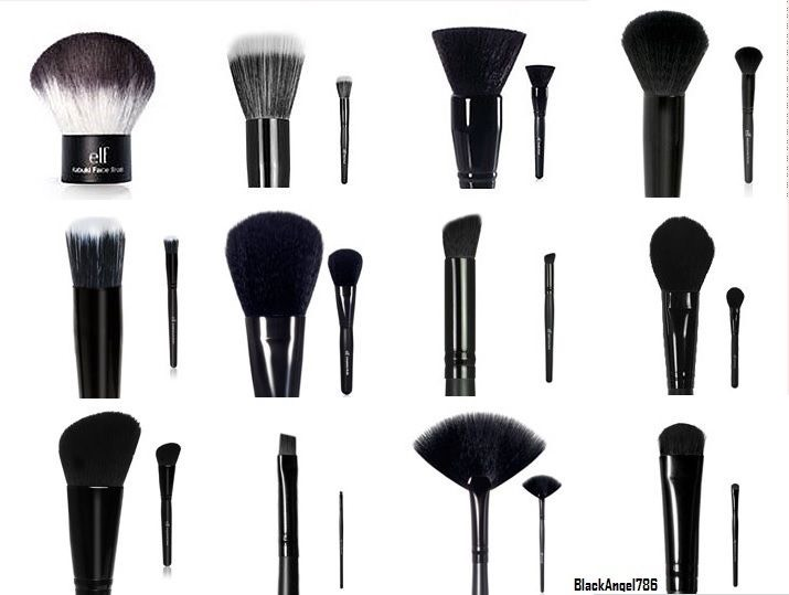 ELF BRUSHES YES. elf has such good quality inexpensive brushes  * don't get the $1 ones they shed*
