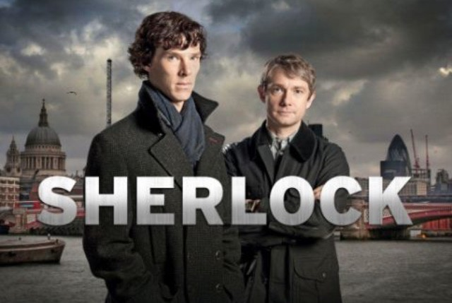 Sherlock, the BBC version with the brilliant Benedict Cumberbatch!