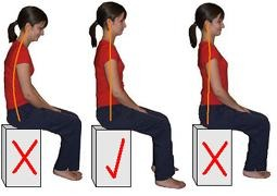 For sitting posture just sit up straight and relax but make sure you don't relax too much to where your sitting like the first picture  Another thing is tilt your chin up this helps you with your soft pallet do lift it too much cause then you'll just look weird and you'll be able to get higher notes