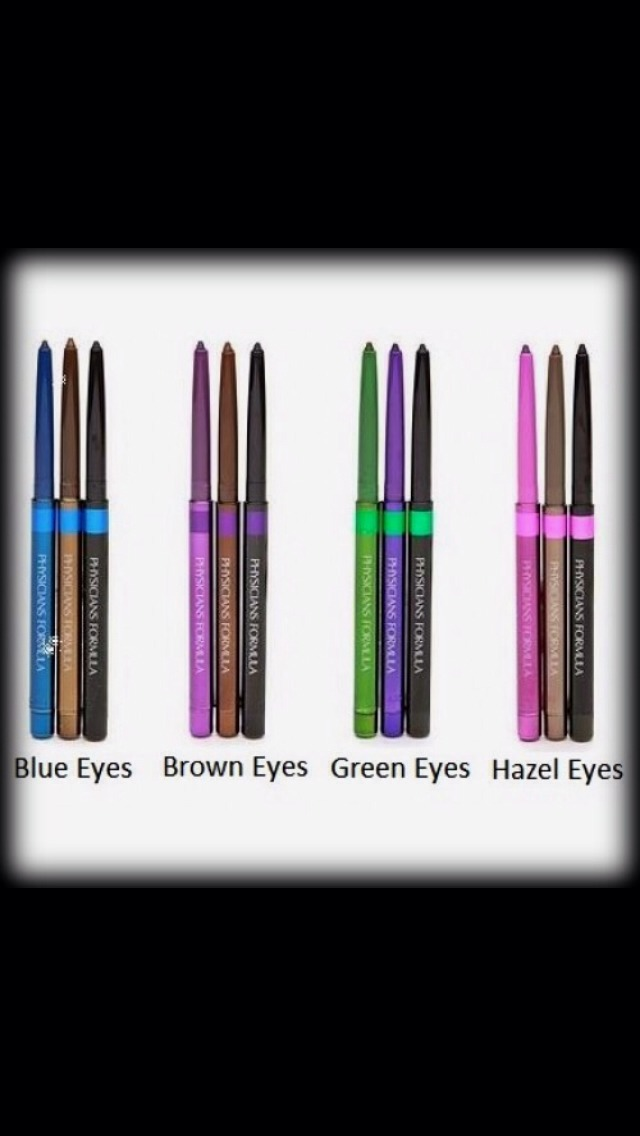 Here are the eyeliners to match! They even comes with a built-in sharpener in the bottom of each pencil. I also love that they extend rather than having to sharpen them. They have a hint of shimmer, which  enhances the colors to make them vibrant.