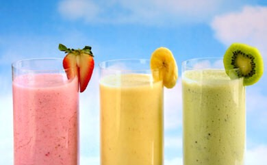 Instead of milkshakes a HEALTHY alternative are smoothies