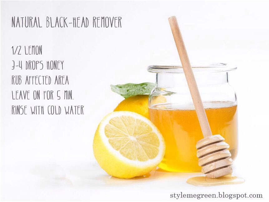 1/2 lemon 3-4 drops of honey Rub infected area Leave on for 5 mins  Wash off with cold water