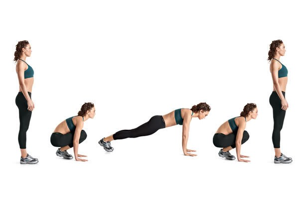 Burpees Do 3 sets of 1 minute