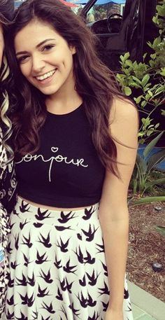 3.) Bethany Mota is a Youtuber who creates fashion, beauty, DIY, etc. She has also been on Dancing with the Stars.