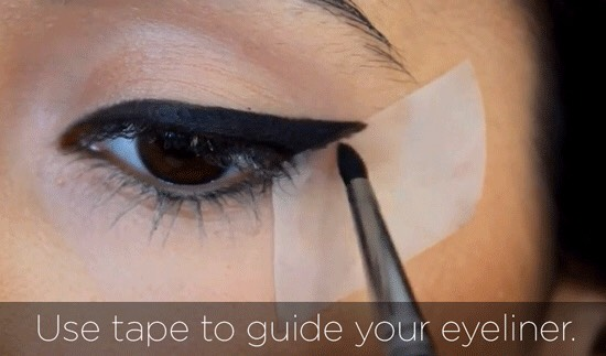 Simple and easy eye liner trick.