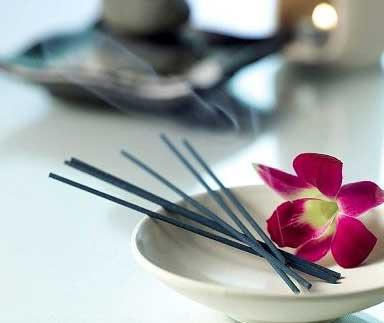 Light some incense sticks too to fill the room with a lovely scent. Lavender is a good choice for relaxation.