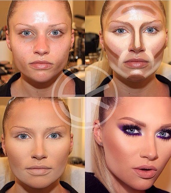 Be patient and make the process to be gentle, the shades will harmonize and your face will be beautifully contoured.