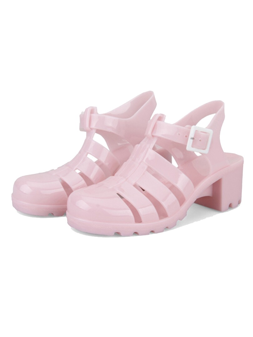 Cute pastel jelly sandals!