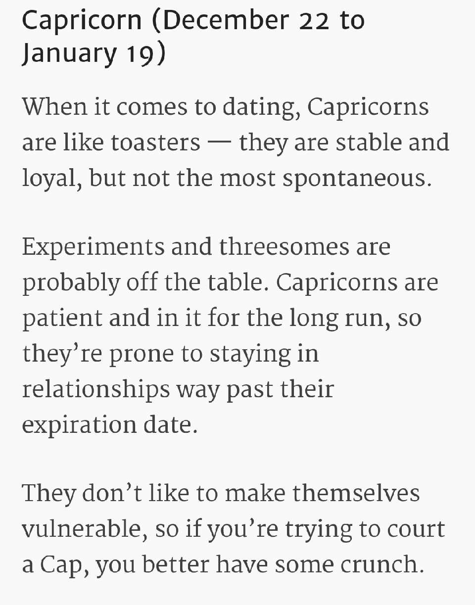 dating habits zodiac signs