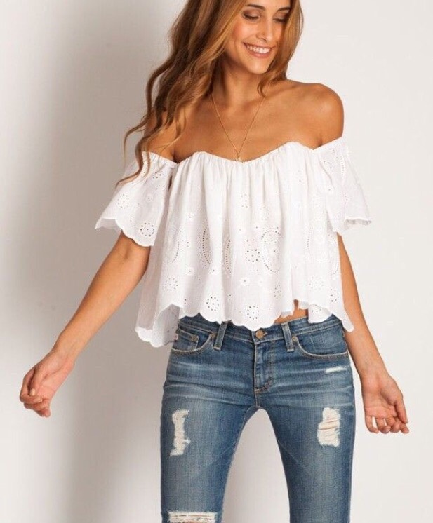 9. OFF THE SHOULDER TOP This top looks like it came straight from Mamma Mia, one of my favorite movies to get summer style inspiration from!