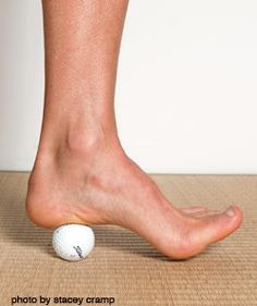 You can even use them on your feet. Roll the ball from toes to heel or in circular motions.