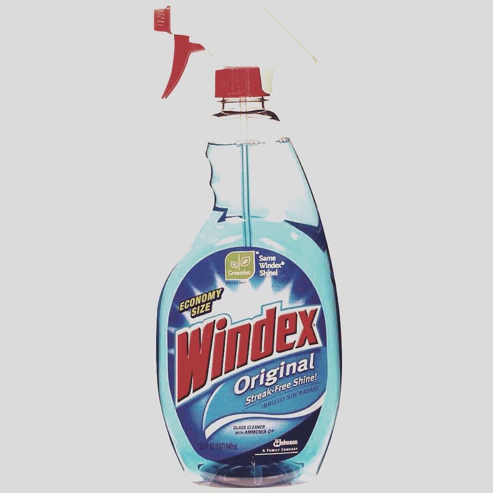 Apply the windex to the stain and let it sit for a minute or two. Take a cold white washcloth and wipe the windex away.