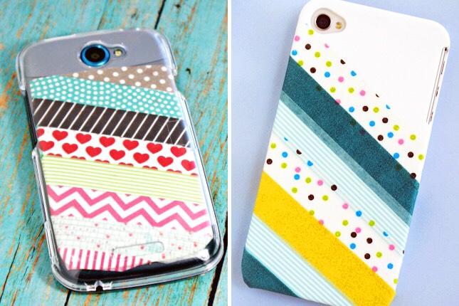 9. Washi Tape Case: Washi tape, what can't you make prettier? :)