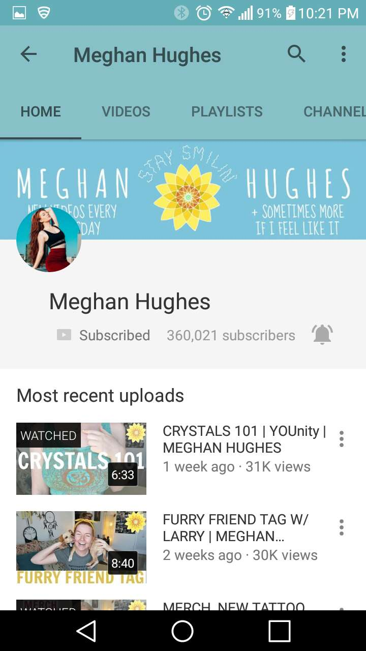 4. Meghan Hughes -life style/beauty Little sister of the great Lindsey Hughes, she's this huge hippie and all her videos are about love and positivity.