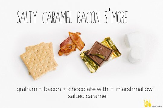 Graham cracker, bacon, ghiaradelli chocolate with salted caramel, marshmallow