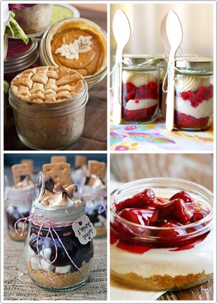 Desserts in a jar are a delicious memory to send your guests off with.