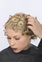 First you need to parting your hair and make them in to pin curls