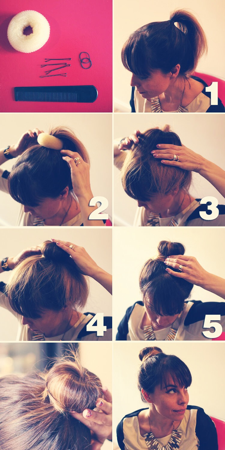 This first tip is using a donut that is shaped so you can wrap your hair round it ☺️