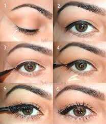 Line a piece of tape like show in fig.1 Once tape is in place go ahead and put on eyeshadow and just line your lid like in fig.2 start drawing the length of wing you prefer like in fig.3 now finally top off your wing like ok fig.4 reaper on other eye and love your look!!! 💁🙆