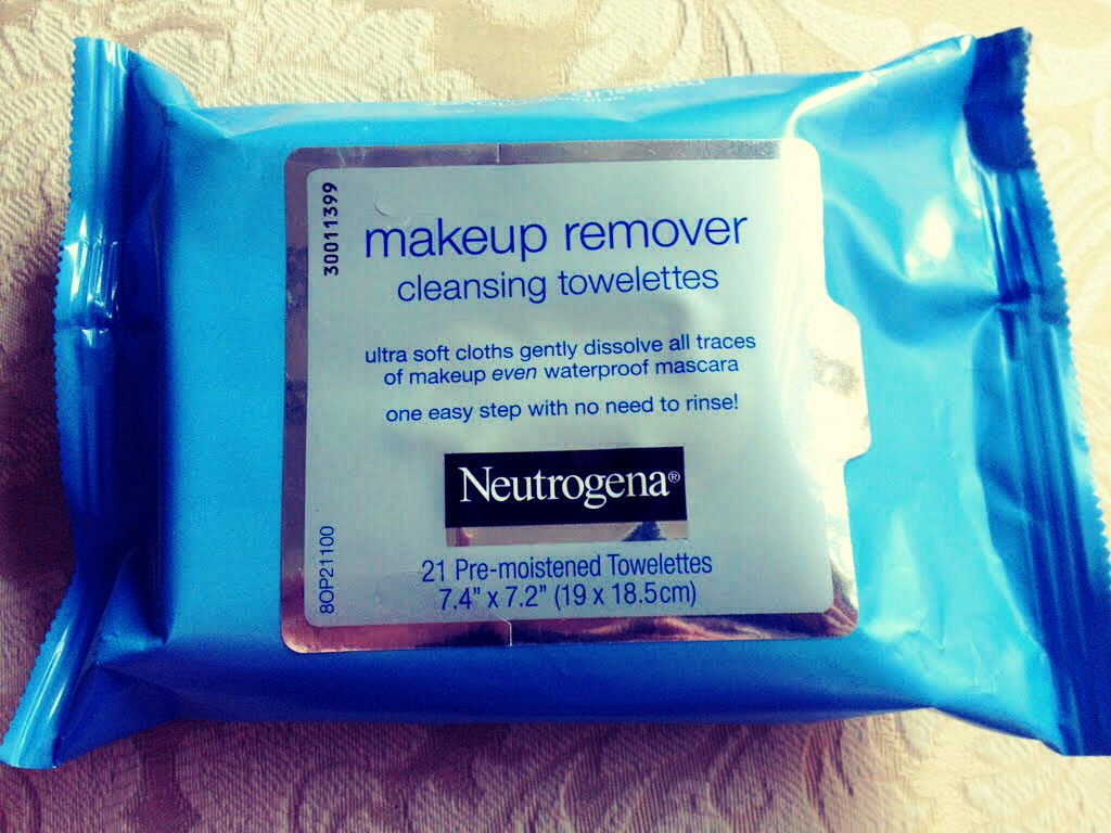 Just in case your makeup does run come prepared with makeup removing wipes
