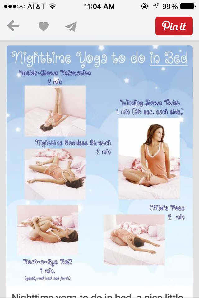 Elegant Yoga Poses Before Bed