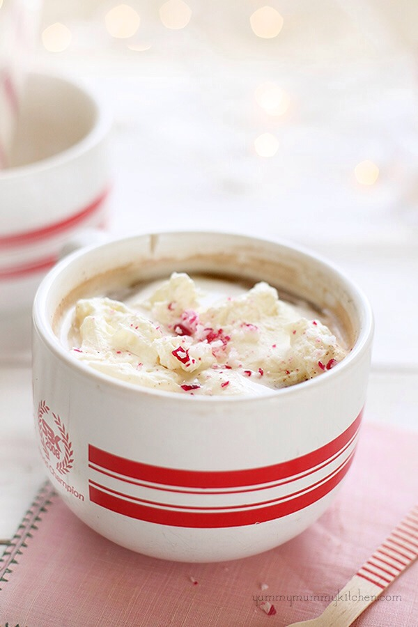 Top with cream and enjoy!