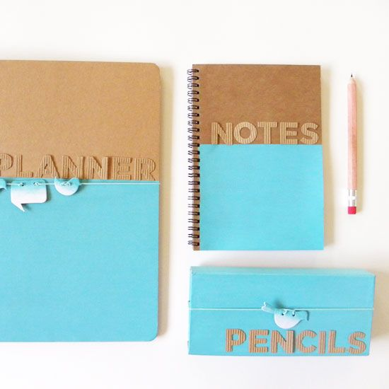3. Color cordinating notebooks and binders/folders helps you organize each subject you are taking