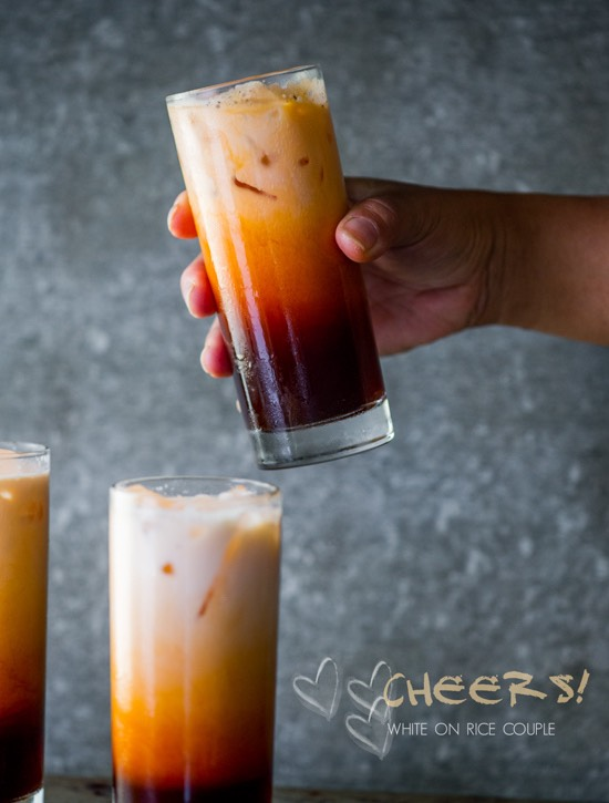 A super simple way to make Thai tea!! (By the way this is to make one serving so if you want to double the recipe or anything just beware this is for one serving