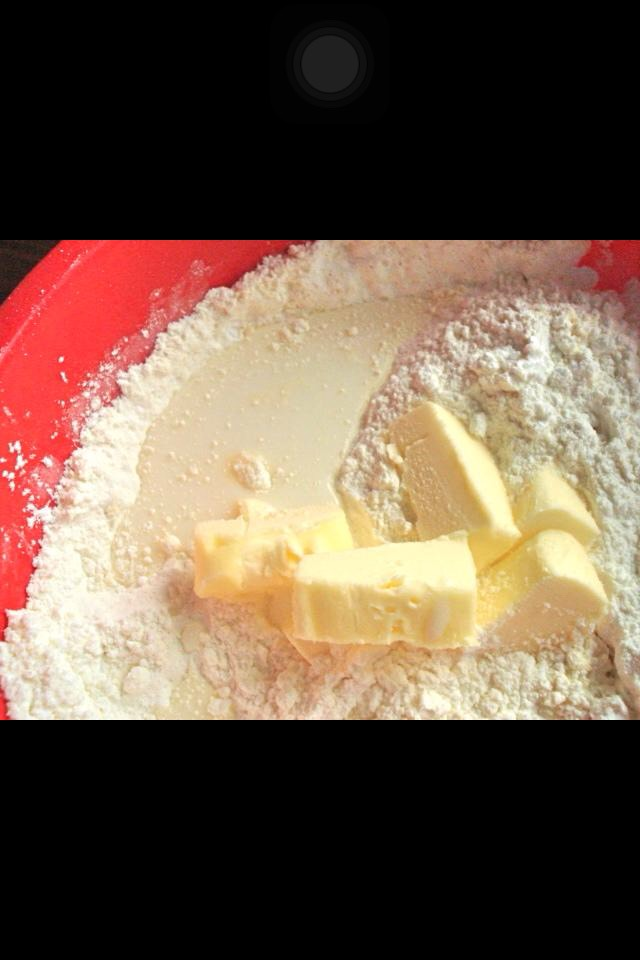 Add 1/4 stick of butter and 1/4 cup of milk. DONT MIX. Make sure you cut up the butter