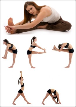 Theres 3 different head to knee stretches