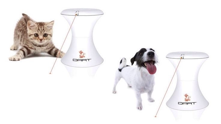 3. Don't have time to play with your pet? TheFroliCat DART TR1 Automatic Rotating Laser Pet Toyhas 16 exciting play combinations with various speed to keep them busy. $27.95