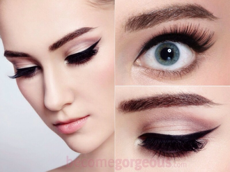 If your one who doesn't really wear a lot of eyeshadow you can always use eyeliner liquid and make a cat eye  and use a light beige as a toner on your eyelid