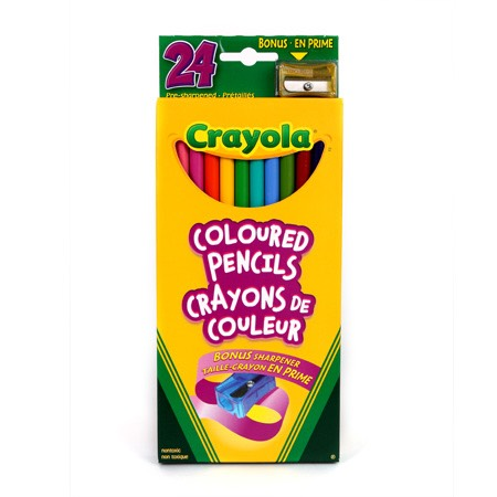 All you need is crayola non toxic pencil crayons and warm tap water