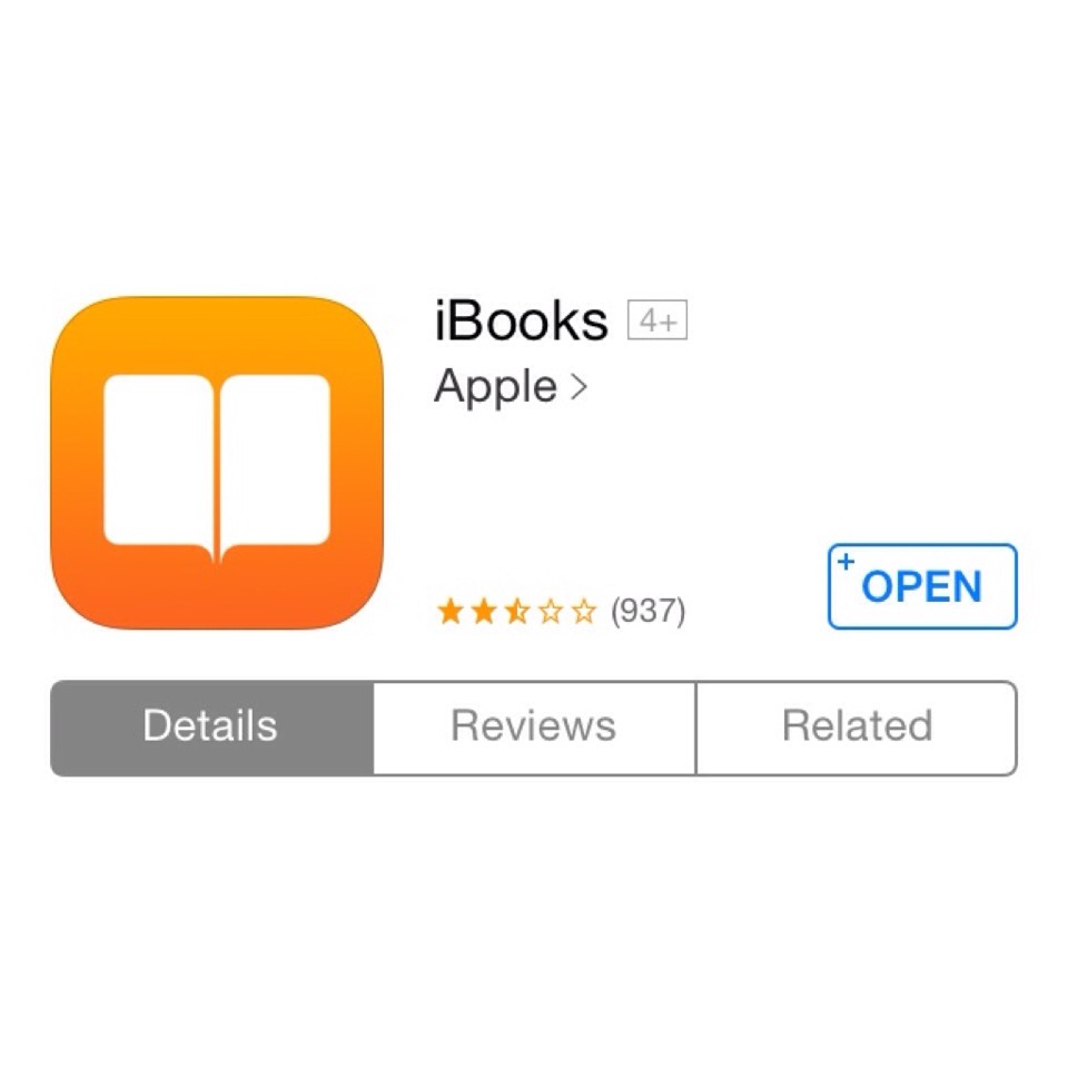 First, download the iBook app found on the App Store.