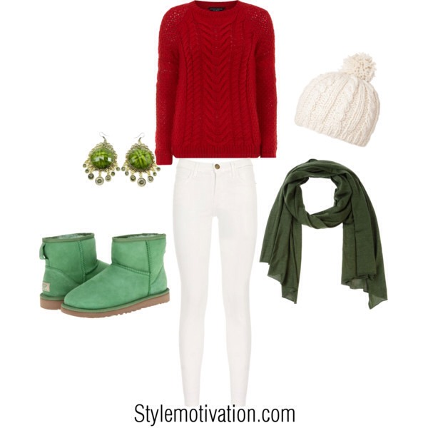 Here you can find some ideas how to make perfect combinations for Christmas holiday. They're 15 great combinations that look stylish, modern and that will make you feel cozy and comfortable and of course the most important is that they are in Christmas spirit and Christmas colors.
