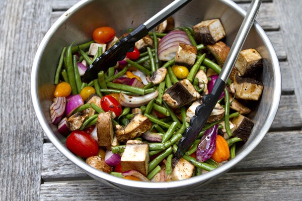 Grilled and Spiced Veggie Mix for a balanced diet.