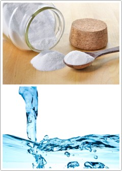 INGREDIENTS | +1 tablespoon of Baking Soda +mineral water  INSTRUCTIONS | Geta consistency suitable for applying. Then massage gently on the skin + wash away with cold water.