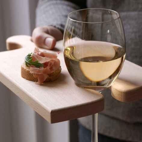 6. Cutting Board Wine Holder